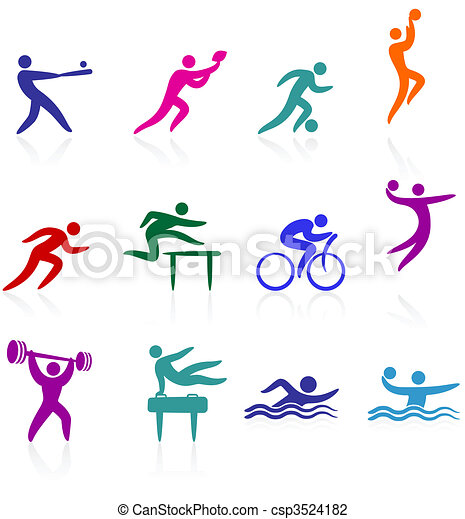 sports, kollektion, ikon - csp3524182
