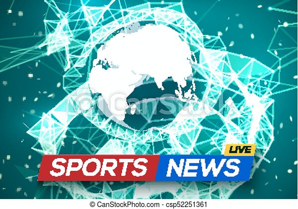 Sports news live with world map africa and europe on green clip sports news live with world map africa and europe on green structure background business technology news background with earth planet gumiabroncs Images