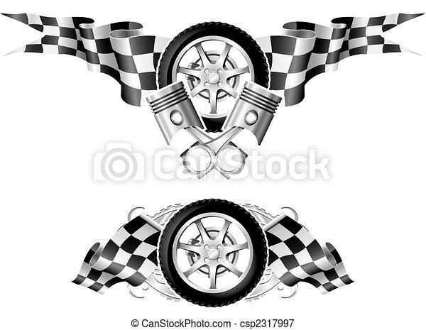 Sports Race Emblems - first set - csp2317997