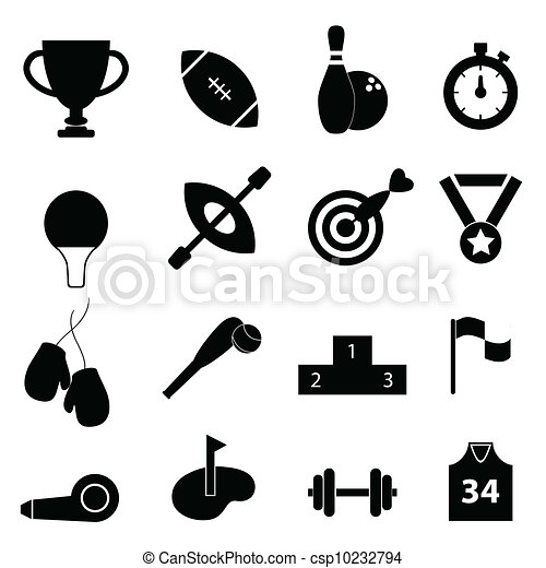 Sports related icon set - csp10232794