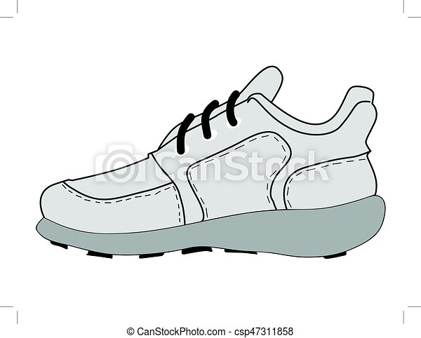 Vector illustration of sports shoes