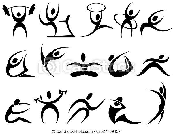 Sports symbols - csp27769457