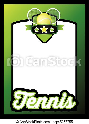 sports template poster or leaflet background tennis - csp45287755