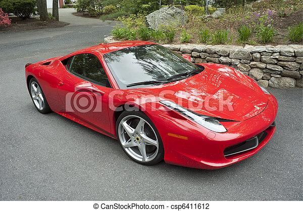 sportscar, rojo, italiano - csp6411612
