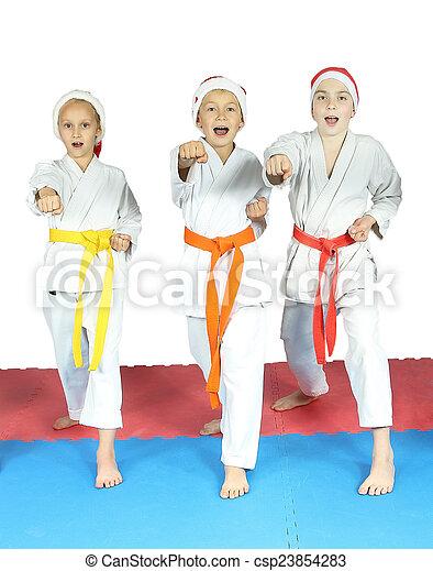 Sportsmen in the karategi - csp23854283