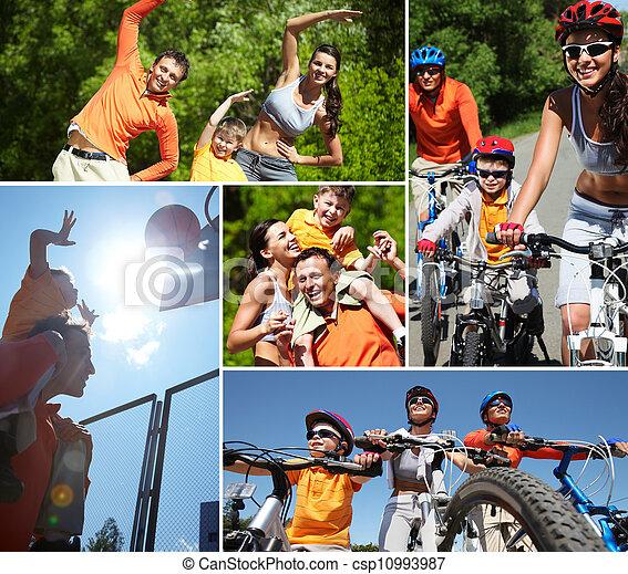 sporty, família - csp10993987