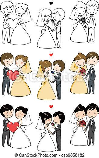 Sposa bello sposo sposa 3 sposo azioni bello for Disegno sposi