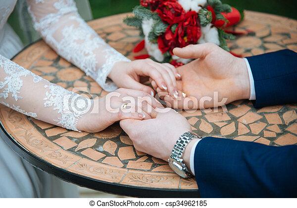 sposa, sposo - csp34962185