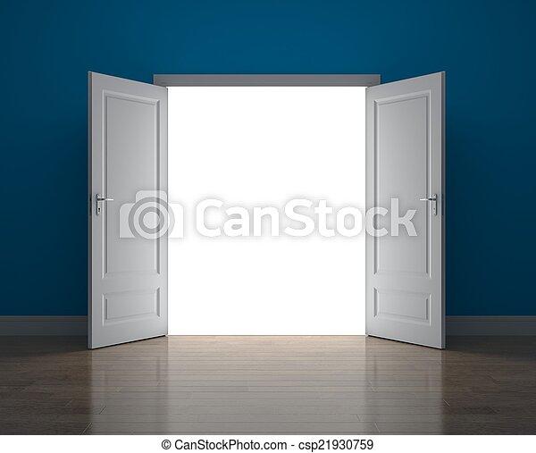 sposobność, drzwi, nowy - csp21930759