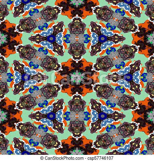 Spot kaleidoscopic seamless generated hires texture - csp57746107