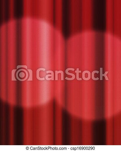 Spotlight Red Curtain Backdrop