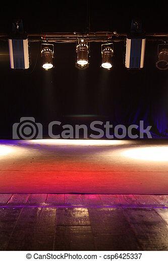 Spotlights in theatre - csp6425337
