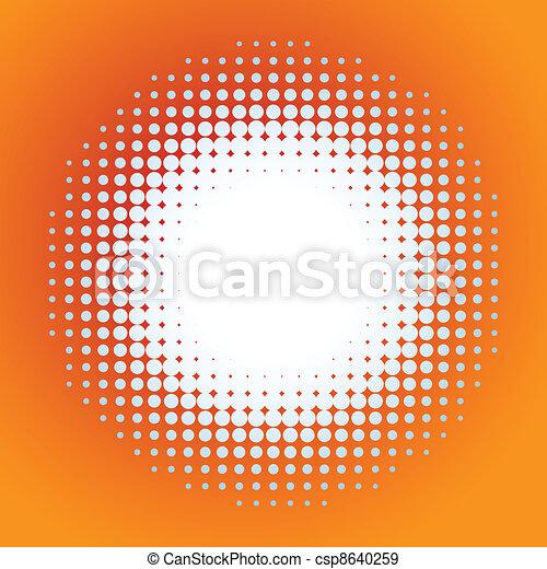 Spotted flash (vector design element). EPS 8 - csp8640259