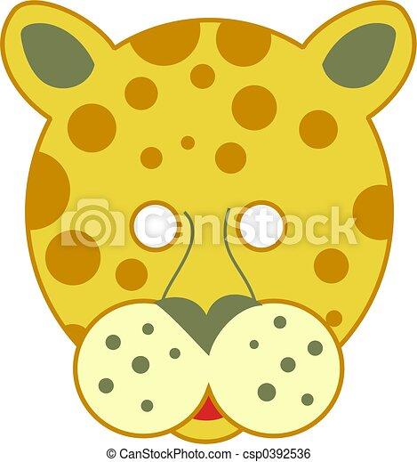 spotty leopard mask - csp0392536