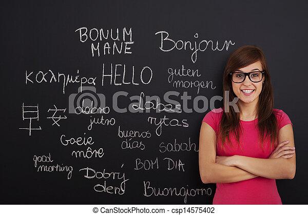 språk, inlärning, utländsk - csp14575402