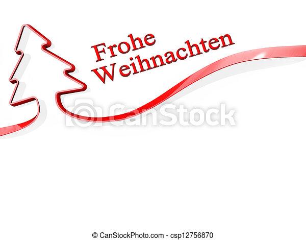 Geschenkband Frohe Weihnachten.Sprache Deutsch Baum Frohe Weihnacht Geschenkband
