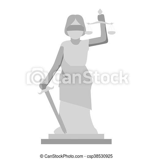 sprawiedliwość, dama, ikona - csp38530925