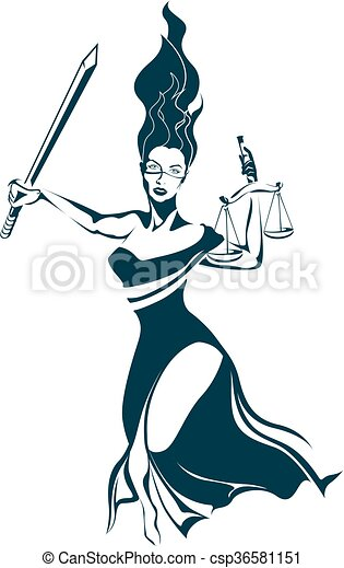 sprawiedliwość, dama - csp36581151