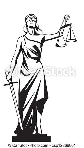 sprawiedliwość, dama - csp12369061