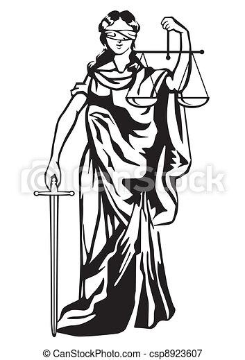 sprawiedliwość, statua - csp8923607