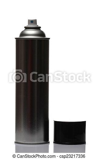 spray bottle, isolated on white background. - csp23217336
