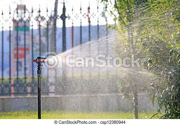 spray irrigation - csp12380944