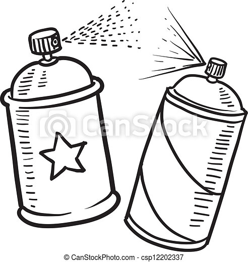 Spray paint can sketch - csp12202337