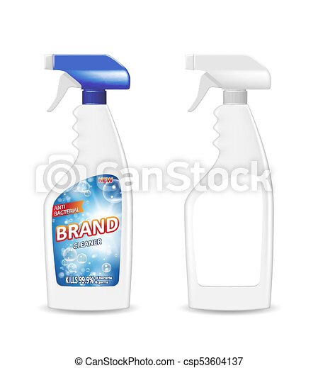 Spray Pistol Cleaner Plastic Bottle With Detergent For Bathroom - Bathroom detergent