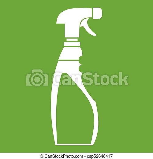 Sprayer bottle icon green - csp52648417