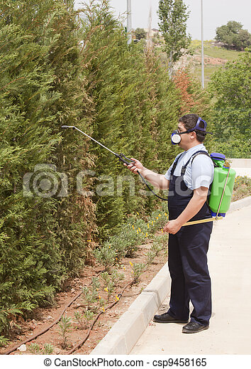 spraying insects - csp9458165