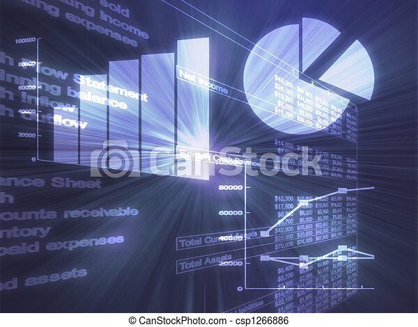 Spreadsheet business charts illustration - csp1266886