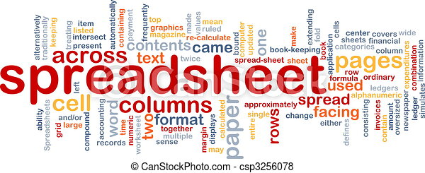 Spreadsheet word cloud - csp3256078