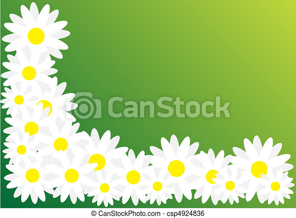 Spring Abstract Background Daisy Flowers On Blue