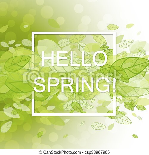 Spring Abstract Background Vector Illustration Design Element With