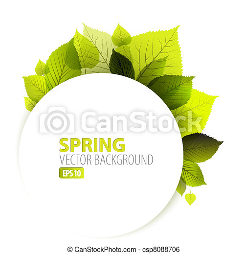 Spring abstract floral background - csp8088706