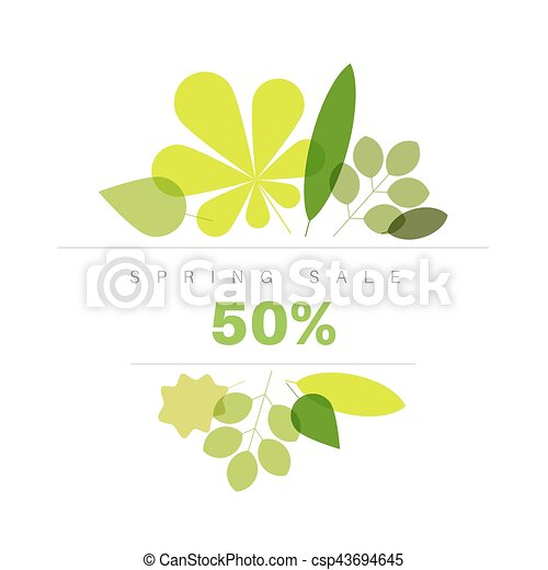 Spring abstract floral background sale label - csp43694645