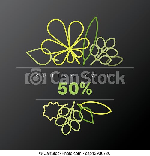 Spring abstract floral background sale label - csp43930720