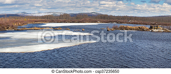 Spring at the lake - csp37235650