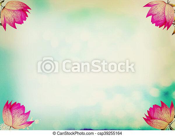 spring background . 3D illustration. Vintage style. - csp39255164