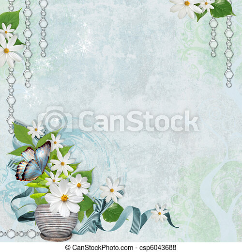 Spring  background with chamomile  - csp6043688