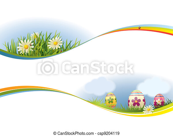 Spring banner - csp9204119