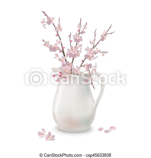 Spring Blossoms Branch in Jug - csp45633838