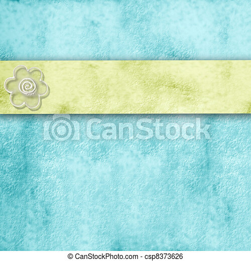 spring blue background with copy space - csp8373626