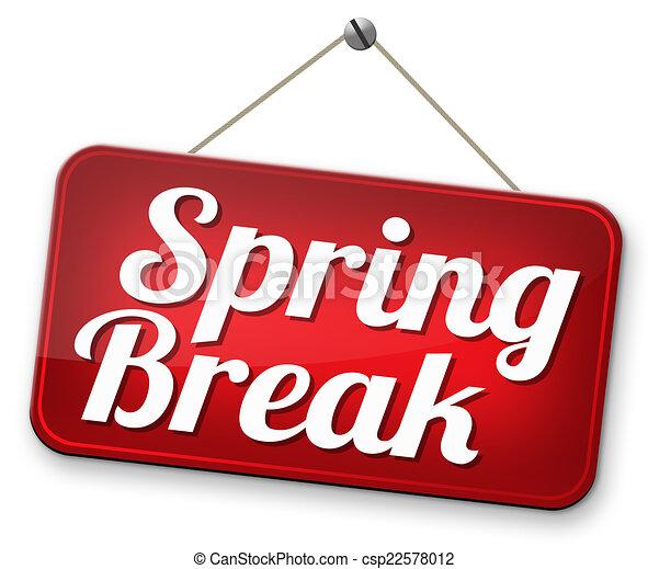 Spring break holiday or school vacation.