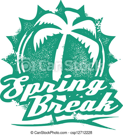 Spring Break Vacation Stamp - csp12712228