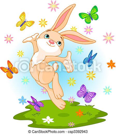 Spring bunny - csp3392943