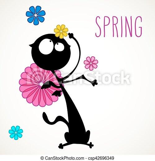 Spring cat - csp42696349
