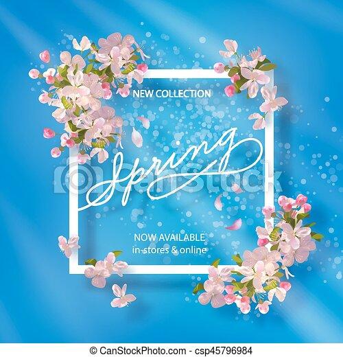 Spring Cherry Blossom - csp45796984