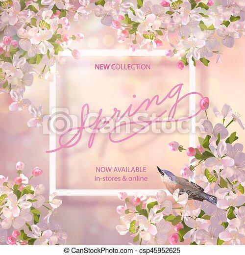 Spring Cherry Blossom - csp45952625