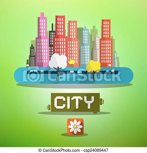 Spring City Vector - csp24089447